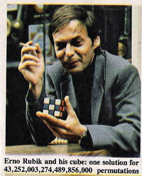 состояний кубика Рубика