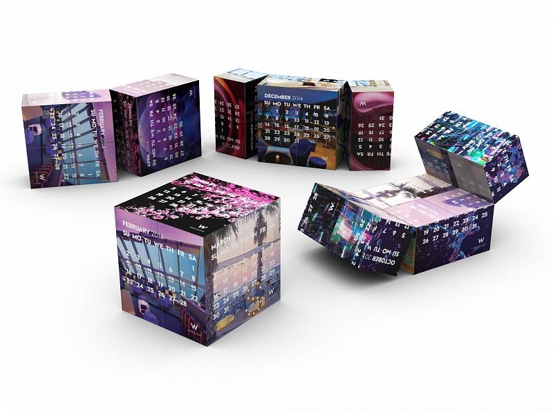 Календарь кубик схема
